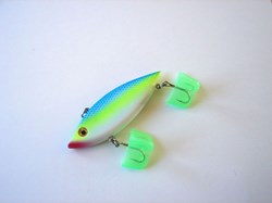 Picture of Chartreuse with Blue Back # 82