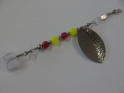 Picture of Chartreuse and Red Hammered Nickel #917